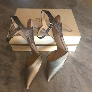 Imagine by Vince Camuto Pewter Satin Slingback 8